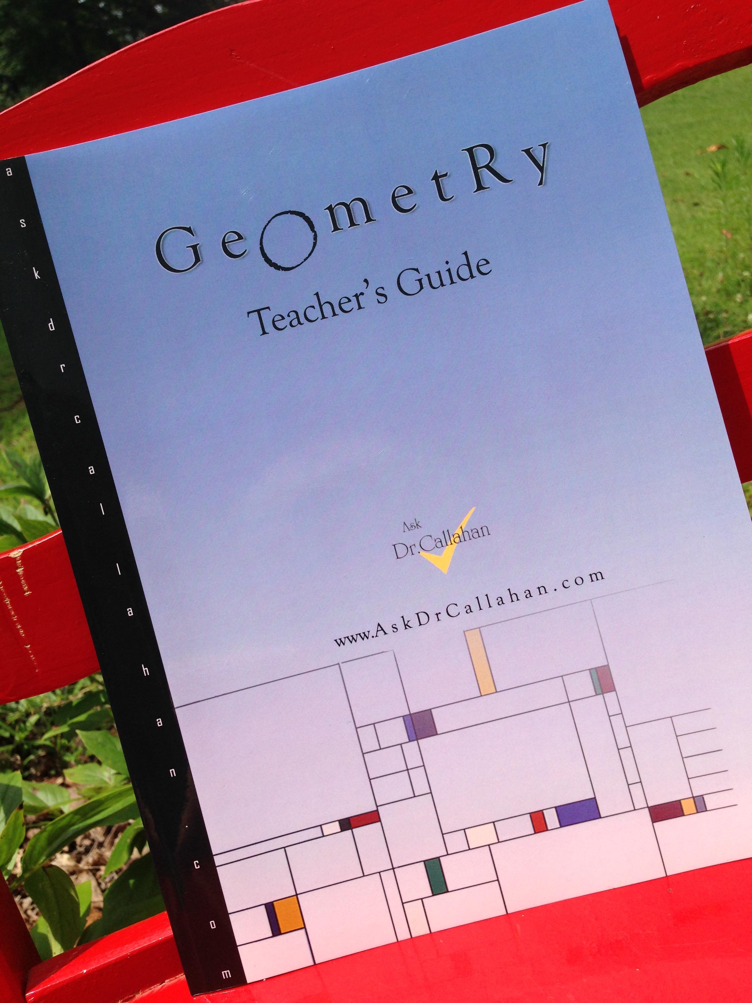 Homeschool geometry - Teacher's Guide for Jacobs Geometry Seeing, Doing, Understanding