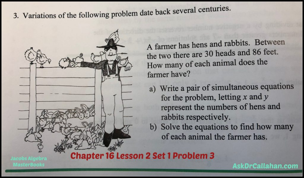 Algebra Chapter 16 Lesson 2 Set 1 Problem 3