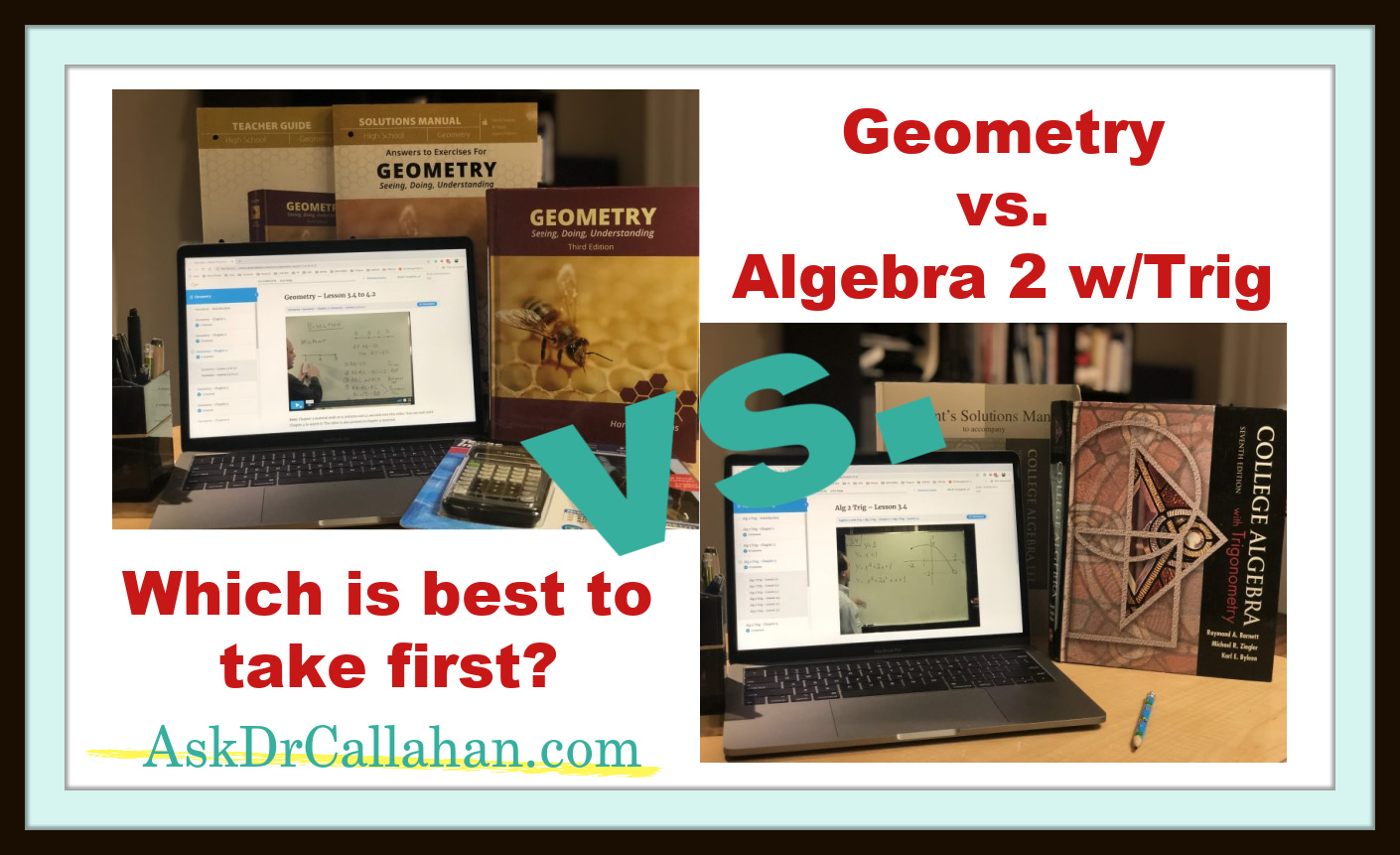 Geometry vs Alg2wTrig